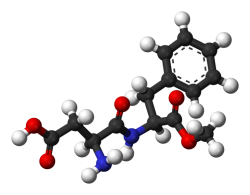 The aspartame molecule
