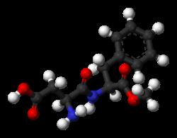 The aspartame molecule